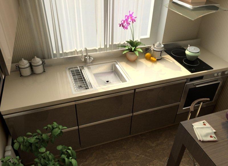 кухня с окном фото