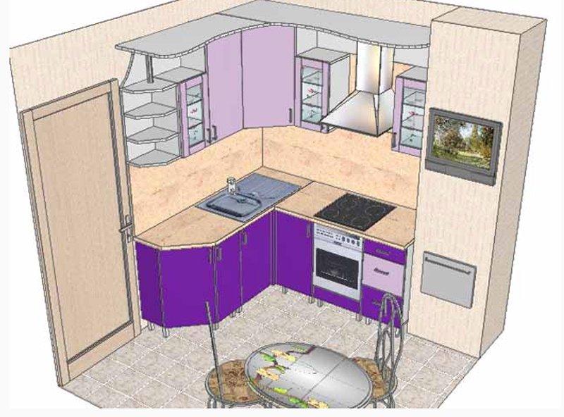 Кухонная мебель для маленькой