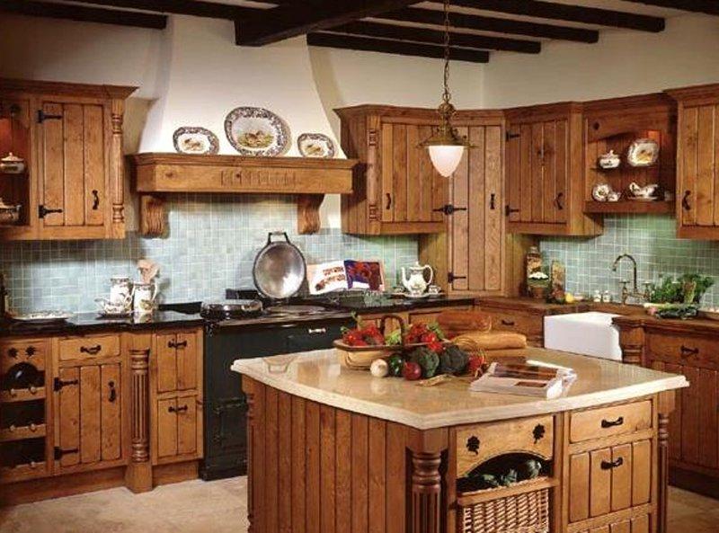 кухня кантри фото