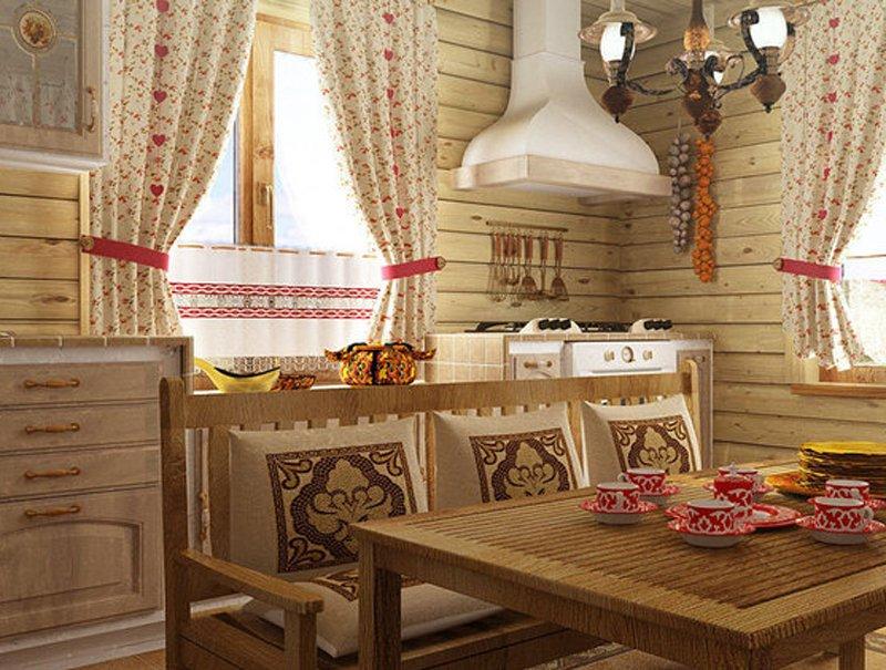 Интерьер в русском стиле фото