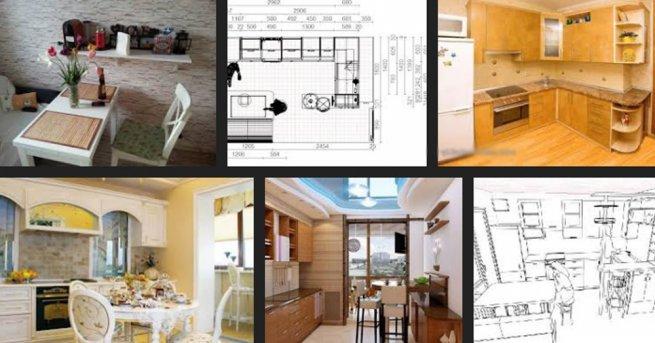 Дизайн кухни с диваном 13 кв м