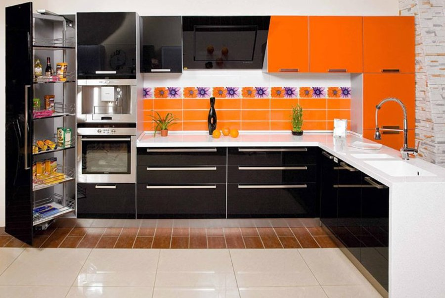 Кухня в стиле модерн 8 кв метров фото