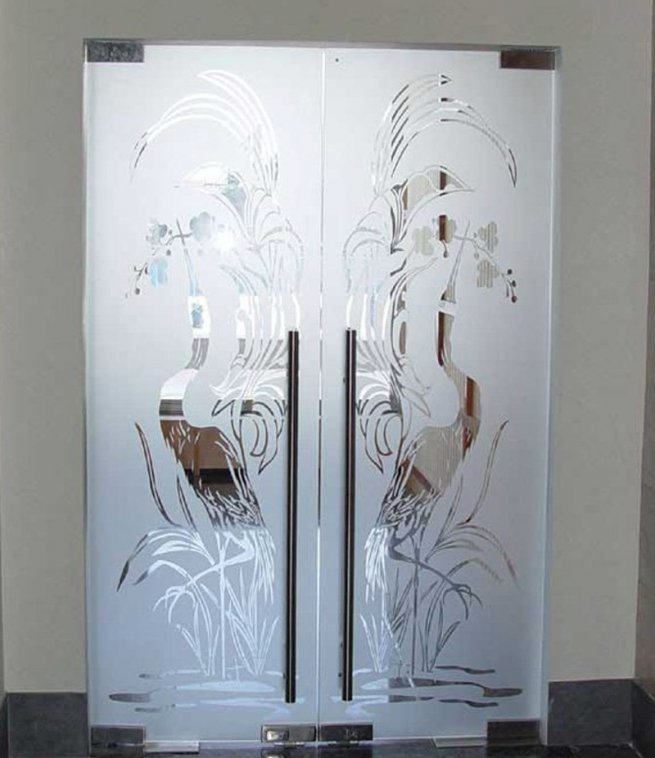 Дверь на кухню двухстворчатые