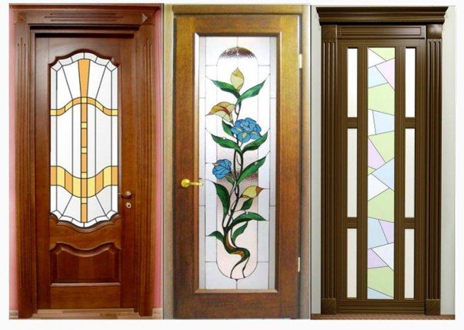 Дверь на кухню комбинированные