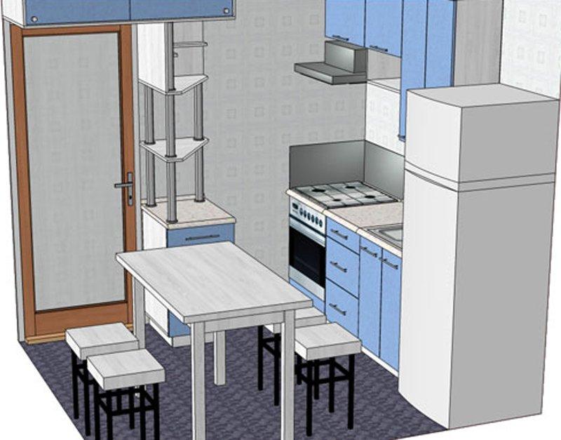 Холодильник в интерьере кухни: планировка маленькой и углово.