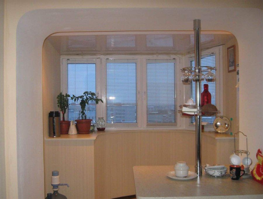 кухня объединенная с лоджией фото