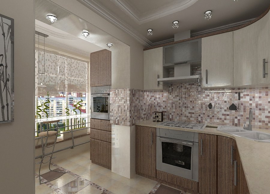 Кухня балкон дизайн фото