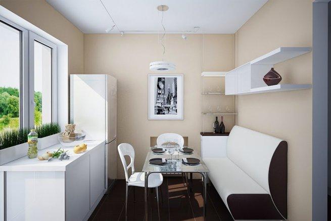 стильный диван на кухне
