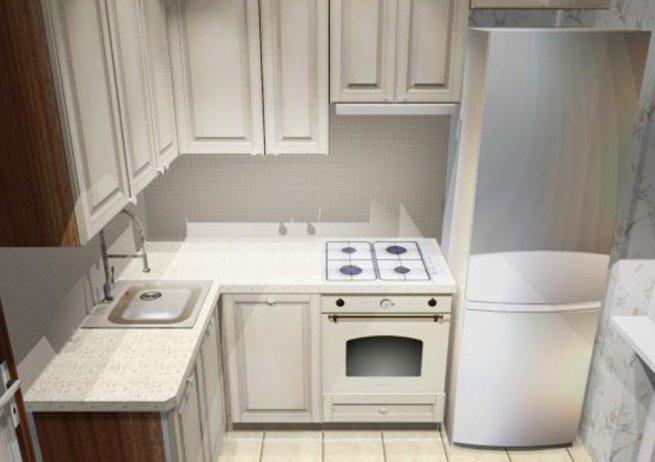 Дизайн кухни 6 кв. м фото