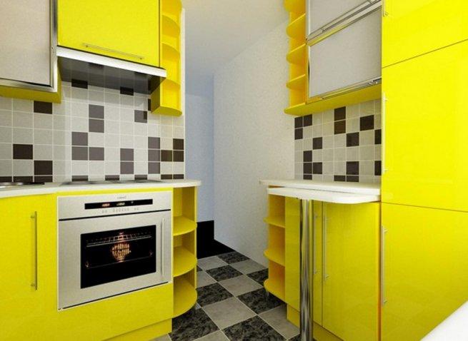 красивый дизайн кухни 6 кв. м