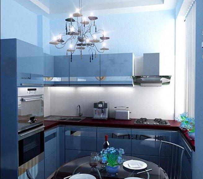 Интерьер на кухне 6 метров 16