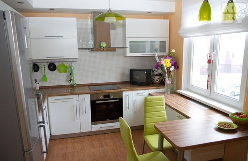 Кухня цвета в хрущевке дизайн