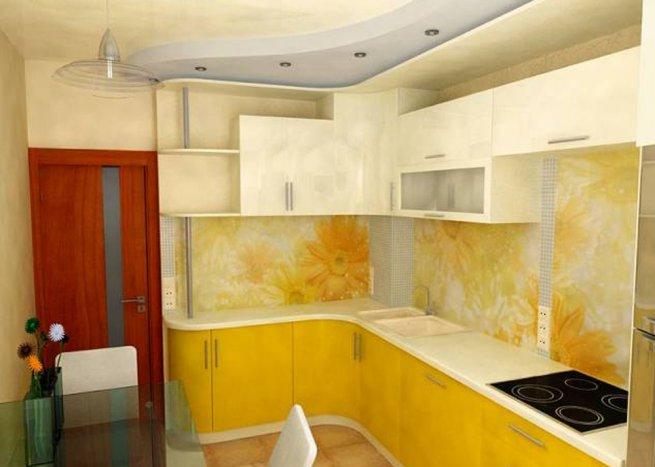 Желтая кухня фото дизайн
