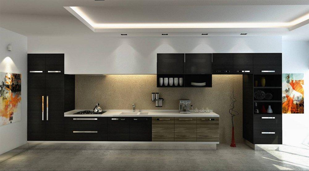 Кухни прямые дизайн 2017