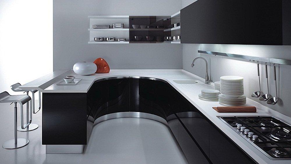Кухня дизайн черной кухни в дизайне