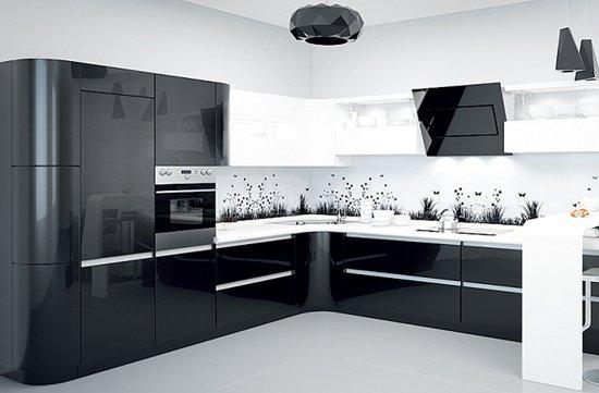 Сиреневая кухня дизайн фото