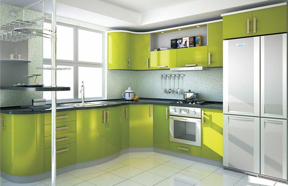 Фото зеленой кухни дизайн