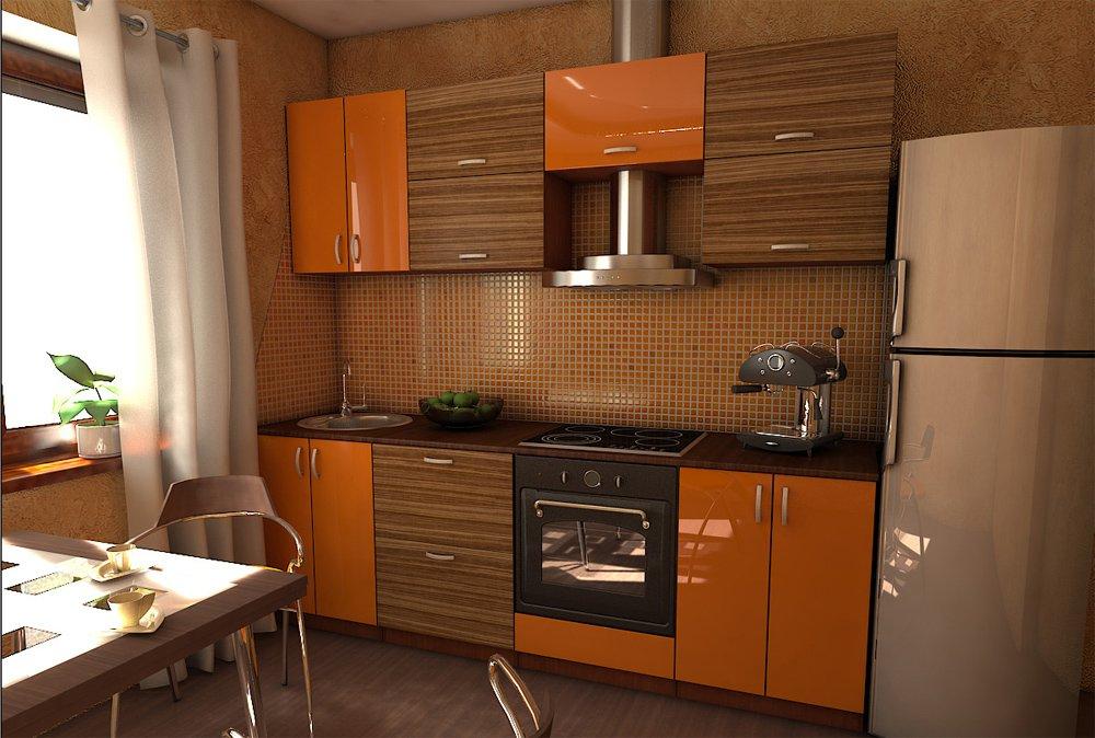 Фото фасадов кухонь в двух цветах