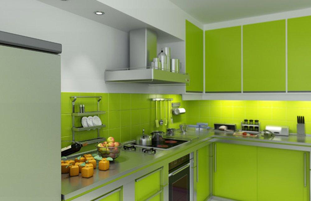 Как смотрится зеленая кухня