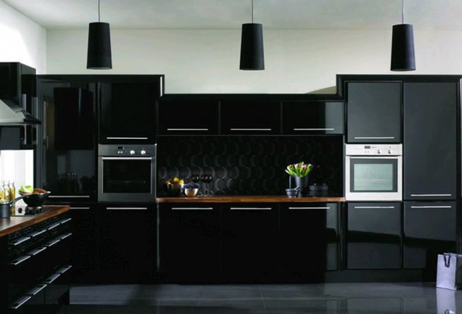 Черная кухня 20 фото