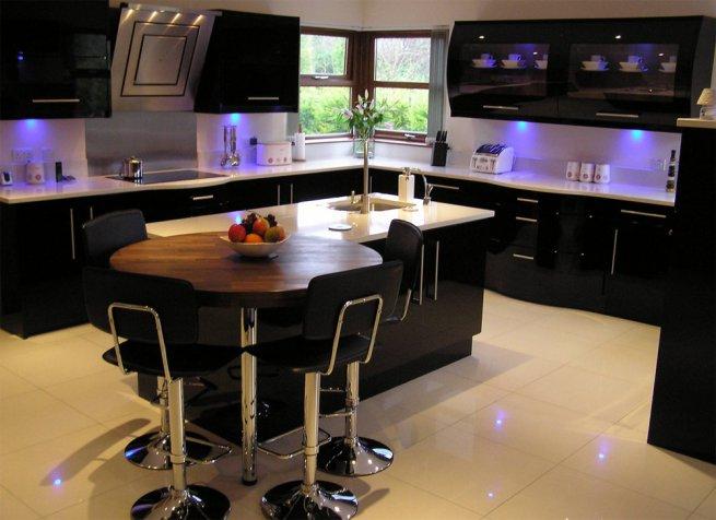 Кухня черная кухня фото черная кухня