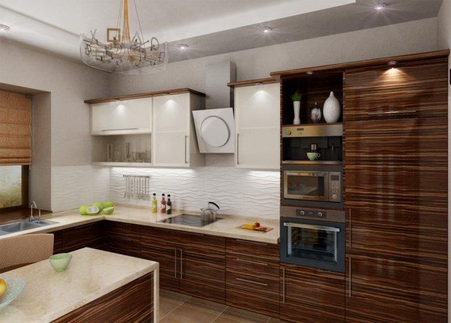 Кухня зебрано фото