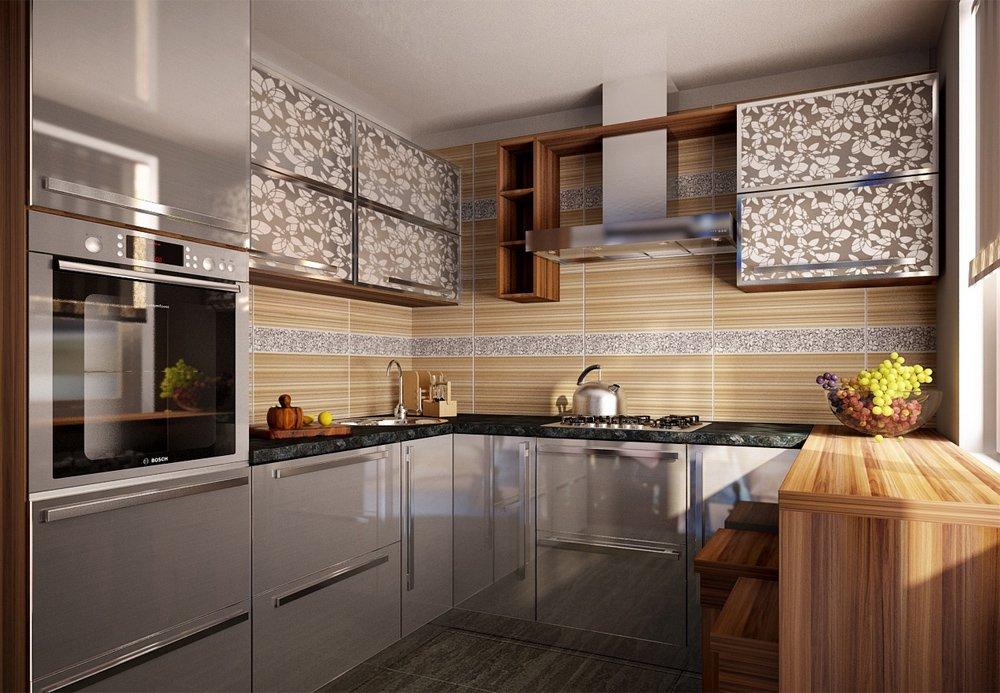 фото серая кухня