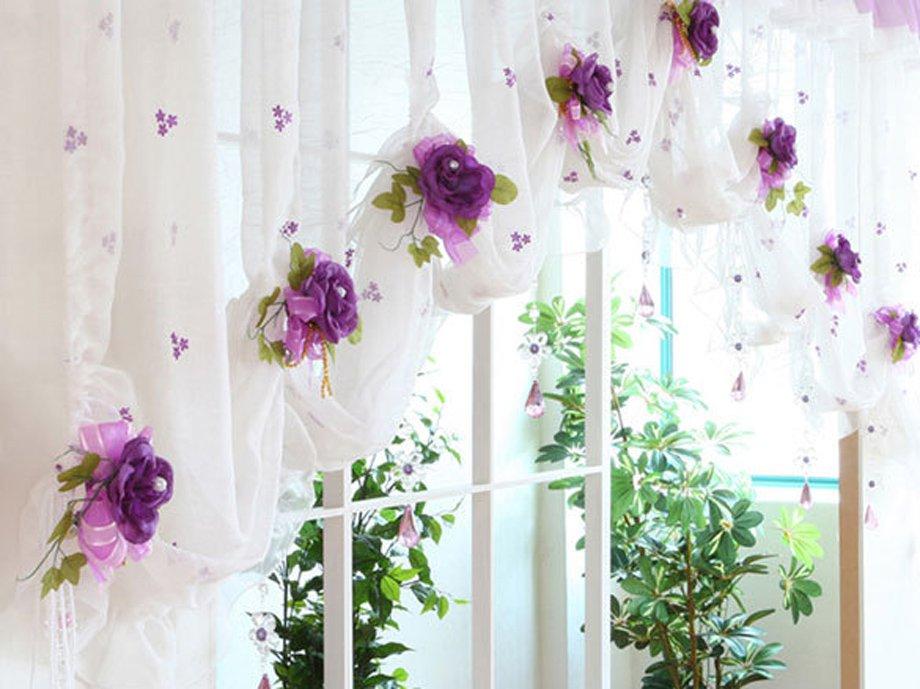 Цветы для кухни сшить