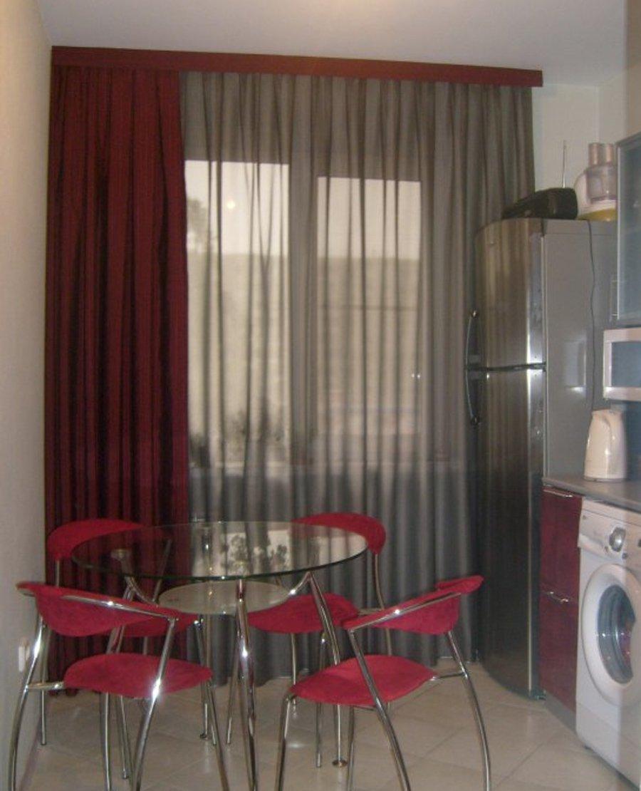 интерьер для штор для кухни фото