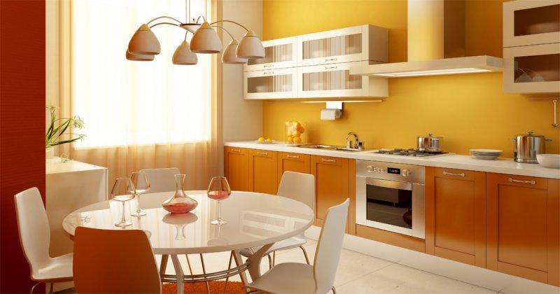 гарнитур для просторной кухни
