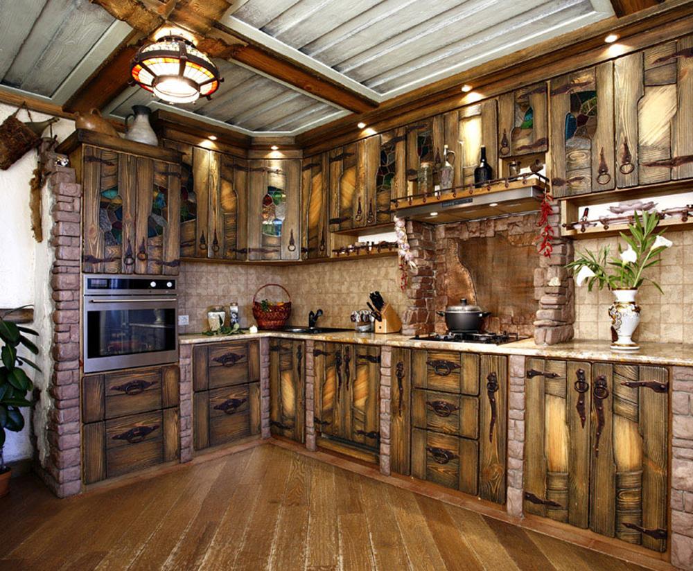 Кухни из дерево под старину своими руками фото